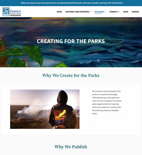 Creating for Our National Park Partners