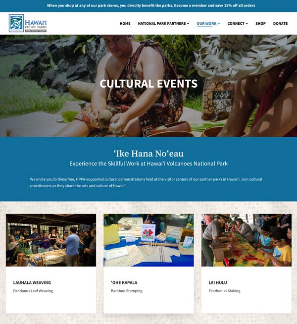 Our Work: Cultural Events