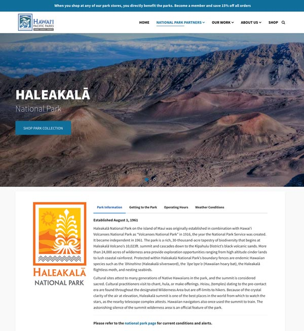 Hawaii Volcanoes NP Partner Page