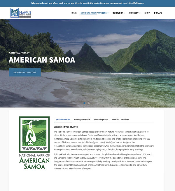 NP of American Samoa Partner Page