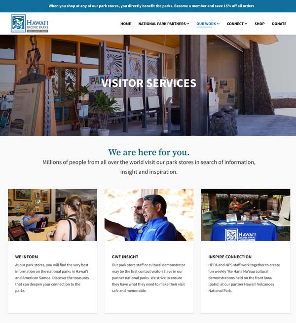 Our Work: Visitor Services