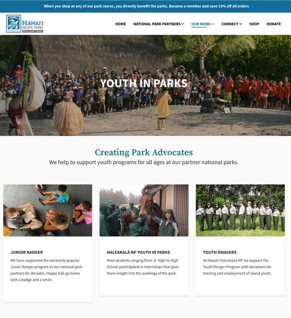 Our Work: Youth in Parks